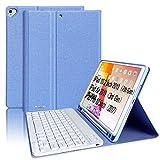 Teclado para iPad 10.2 8th 2020/7th 2019, Funda Teclado para iPad Air 3 10.5 Teclado Inalámbrico para iPad Pro10.5' con Teclado Bluetooth Español ,Funda para iPad 8 Generación con Teclado Desmontable