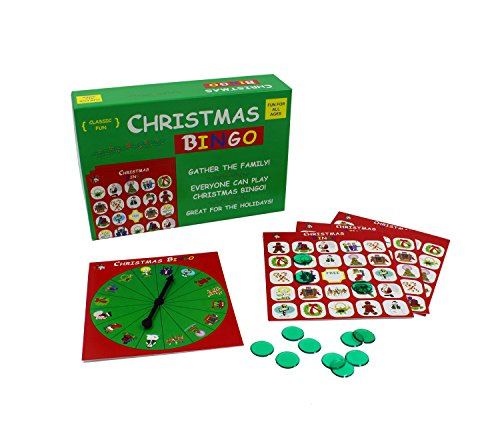 Anton The Original and Classic Christmas Bingo Game - Have a Very Merry Christmas with Our Popular Christmas Bingo Game, Complete with Bingo Game Cards, Bingo Chips and a Bingo Spinner!