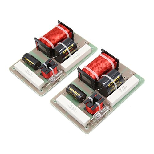 uxcell 2Pcs 250W 2800Hz Motorcycle Car Audio Crossover Filter Speaker Frequency Divider