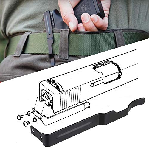 XFC-QGD, Verdeckter Gun Gürtelclip for Glock Schieben Holster for Glock 17 19 22 23 24 25 26 27 28 30S 31 32 33 34 35 36 Carry Pistole Clip Slides (Farbe : Schwarz)