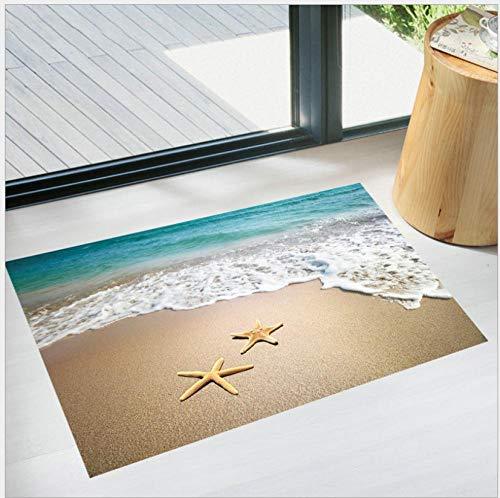 Pegatinas De Pared Decorativas Pegatinas De Pared Olas De Mar Playa Pvc Moda Decoración Del Hogar Baño Pasillo Pegatinas De Suelo Autoadhesivas 60 * 90 Cm
