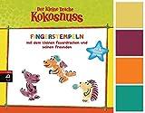 Cbj Der kleine Drache Kokosnuss - Fingerstempeln: Set mit Buch und 4 Fingerfarben