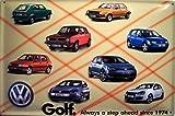 Froy Vw Volkswagen Golf Geschichte Wand Blechschild Retro