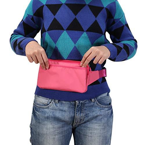 CELINEZL Bags Multi-Function Universel Extérieur Sac pour téléphone Portable Sac à bandoulière Taille, 11 x 20 cm (Noir) (Couleur : Magenta)