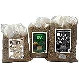 The Belgian Brewery – Set di 3 cereali per birra da 5 l White Ale – IPA Amber Grapefruit – Black Belgian Ambrée