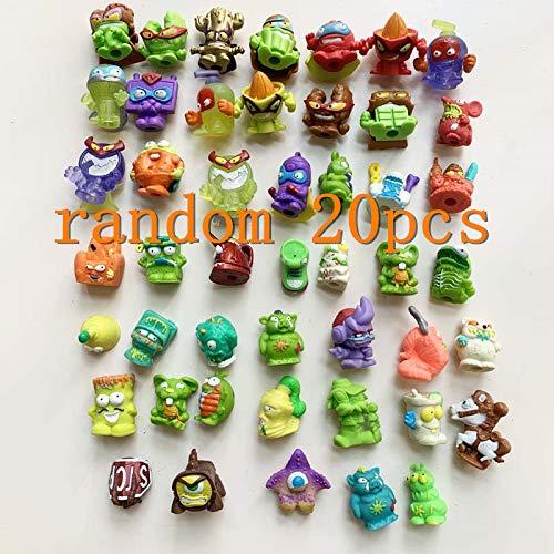 XKMY Figura de acción Juguetes 20/30 piezas de goma Super Basura figuras de acción para niños Modelo de muñeca de basura para niños jugando regalo (color 20 piezas al azar)