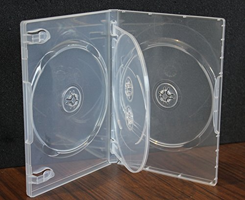 10 Pack Crystal Clear Standard Size 4 DVD Case Box 14mm Four Discs Holder W Flap