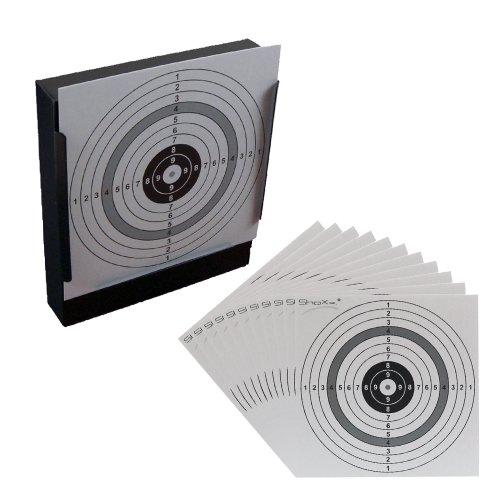 shoot-club ShoXx.® Kugelfang für Druckluftwaffen und 100 Zielscheiben im Format 14x14cm