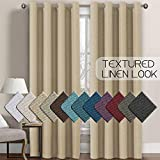 Best Thermal Curtains - H.VERSAILTEX Linen Curtains Room Darkening Light Blocking Thermal Review