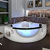 Bañera de esquina Whirlpool A1506H-ALL 152 x 152 cm, función de limpieza, autolimpio: limpieza de manguera activa +90 euros