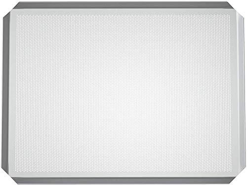 LEHRMANN geperforeerde plaat 45,5 x 37,5 cm met anti-aanbaklaag bakplaat bakplaat bakplaat baguetplaat pizzablek voor oven Bosch Neff Siemens