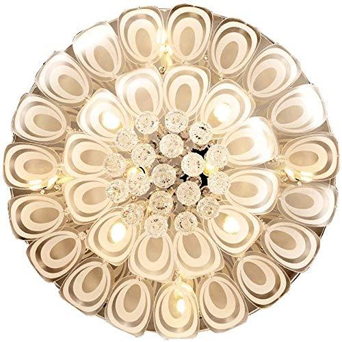YYCHJU Plafón de Alto Rendimiento Simple lámpara de Techo de Cristal LED de luz de Techo-Moderna, Dormitorio Estudio Sala de Estar luz de Techo, tamaño: 80 cm de diámetro