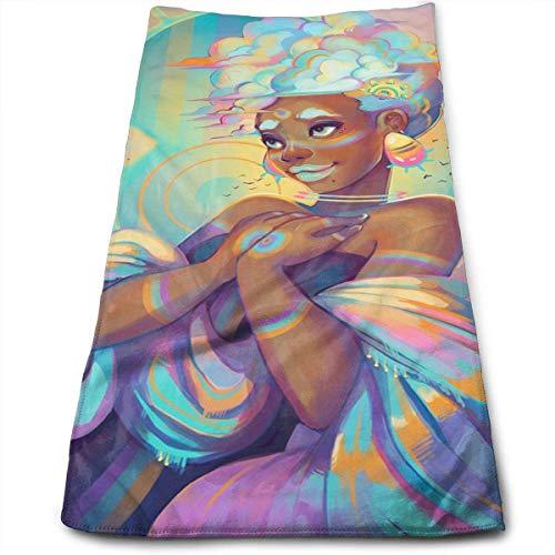 DDHHFJ Face Hand Towel Beautiful African Women Bath Towel Mu