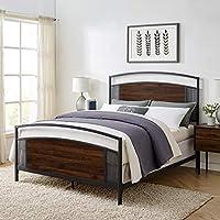 Walker Edison Queen Size Headboard Footboard Bed Frame