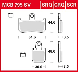 Bremsbelag TRW Sinter Street Hochleistungsbelag TDM 900 ABS RN18 07-13 hinten