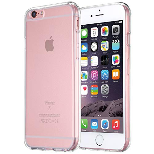 iPhone 6s Case, tekSonic Apple iPhone 6 6s Case [Soft-Flex] Shock-Absorption Bumper [Crystal Clear] and Anti-Scratch Clear Back Cover Case for iPhone 6s iPhone 6 4.7 Inch (Transparent)