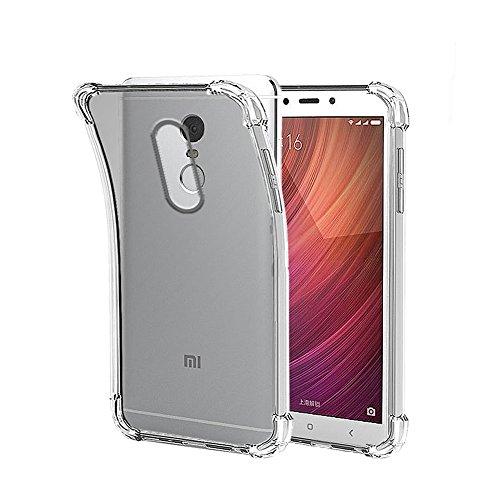 Funda Anti-Shock Gel Transparente para XIAOMI REDMI Note 4X, Ultra Fina 0,33mm, Esquinas Reforzadas, Silicona TPU de Alta Resistencia y Flexibilidad