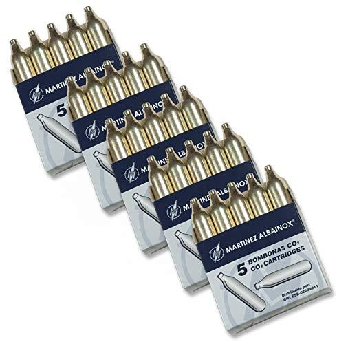 Albainox, 25 bombonas CO2, 12 gr. para Pistolas y carabinas