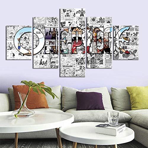 Modulaire Foto Canvas Wall Art Moderne Frame Voor Room Decor 5 Panel letter HD Print 30x40 30x60 30x80cm GEEN ingelijst