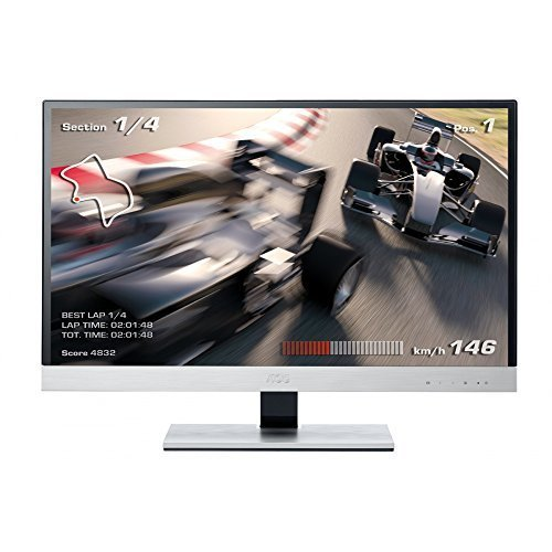 AOC I2757FM 27 inch Widescreen IPS LED Multimedia Monitor (Mobile High-Definition Link, i-Menu, e-Saver, Screen+, 1920x1080, 5ms, 2 x HDMI) by AOC International