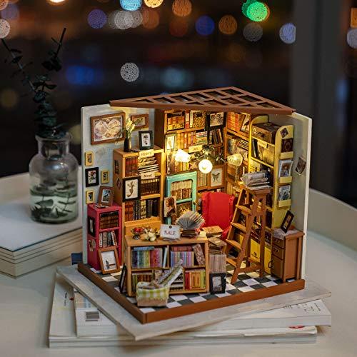 DIY Bausatz Buchhandlung/Bibliothek mit LED Licht - 6