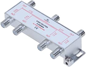 6 Way 5-2300 MHz Coaxial Antenna Splitter for RG6 RG59 Coax Cable Satellite HDTV (6 Ports)