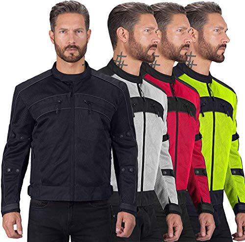 Motorcycle Jackets for Men Viking Cycle Ironside Men's Mesh Motorcycle Jacket (Small), Black