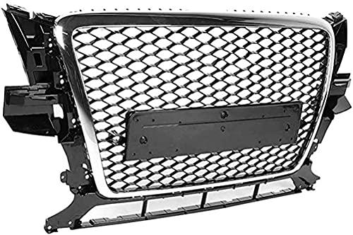 ABS Parrilla del Radiador del Parachoques Delantero para Audi Q5/SQ5 8R 2009-2012,Grill De Entrada De Aire Delantera,Modificación de Coche Accesorios de Decoracion