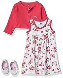 Hudson Baby Girls' Cotton Dress, Cardigan and Shoe...