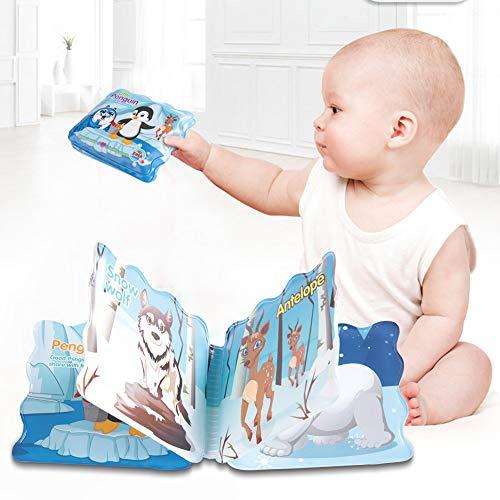 Libro del baño, libro lavable duradero de la fiesta de bienvenida al bebé de los patrones coloridos para el baño del bebé para el juego del cerebro(Little Penguin)