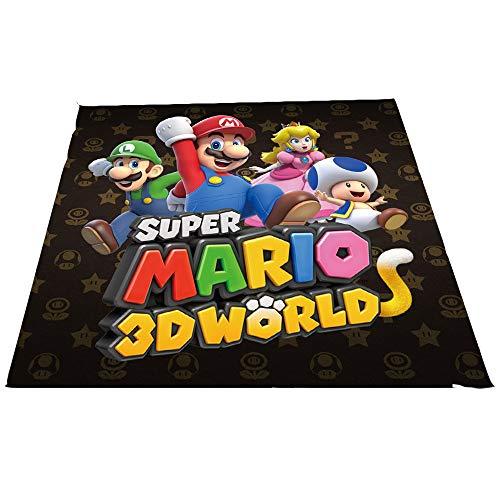 Super Mario - Alfombra para Sala de Estar, Dormitorio, Alfombra fácil de Limpiar para el Dormitorio de los niños, 90 cm x G150 cm, Mario y Luigi Bros