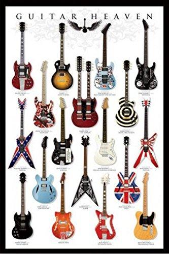 1art1 48473 Gitarren - Guitar Heaven I Poster 91 x 61 cm