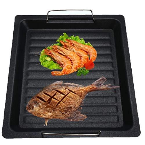 sjqc9561 1 Pc Nonstick Grill-Platte Herd Kochen Bratpfanne Werkzeug Für Outdoor-Camping-Reise 30 * 25cm