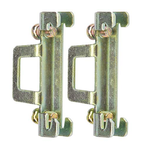 10Pcs Strong Construction Durable DIN Rail Fixed Clamp, DIN Rail Fasten Clip, for Relay Mounting Relay(Metal 11 Model)
