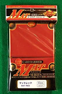 KMC 80 Card Barrier Mat Series Rouge Mat Red (10 Packs/total 800)