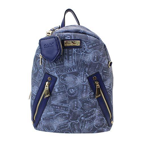 ALV by Alviero Martini - Zaino Backpack SUMMER PASSPORT impermeabile e resistente, con tasca per IPAD da donna