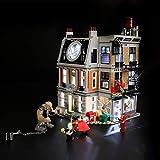 BRIKSMAX Kit de Iluminación Led para Lego Super Heroes Duelo en el Sancta Sanctorum, Compatible con Ladrillos de Construcción Lego Modelo 76108, Juego de Legos no Incluido