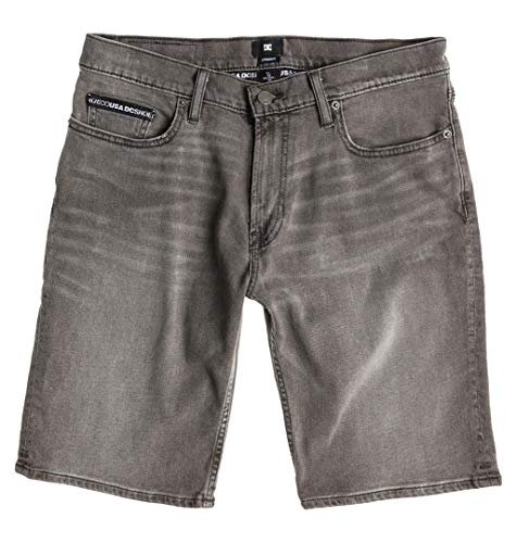DC Shoes Worker Straight Denim Shorts Grey stone - Short coupe droite - Homme