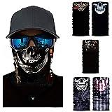 Milya 5er Pack Multi Sturmmaske Sturmhauben Skull Totenkopf Ghost Skelettmasken Gesichtsmaske...