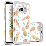 BENTOBEN Galaxy S8 Plus Case, S8 Plus Phone Case,Slim Fit Dual Layer Shockproof Protective Hybrid Hard PC Soft TPU Bumper Drop Protection Non-Slip Girl Women Cover for Samsung S8 Plus, Grey/Pineapple