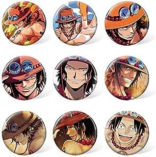 Scallion 9 Pcs/Lot Anime Brooch Toys Badge Luffy Nami Usopp Zoro Sanji Law Robin Franky Chopper Brook Hancock Ace Cosplay Pins Thing You Must Have The Favourite 5T Superhero Girls