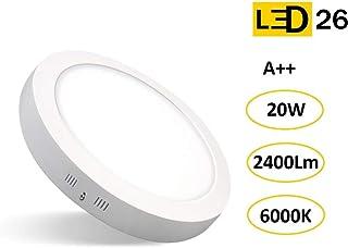 LED26 DOWNLIGHT PANEL SUPERFICIE LED CIRCULAR 20W plafon