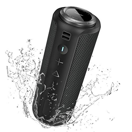 Bluetooth Speaker: SONGLOW 40W Louder Sound Portable Speakers Bluetooth Wireless 131 Feet with Good Bass & PartySync Multi Pairing & Outdoor IPX7 Waterproof Speaker