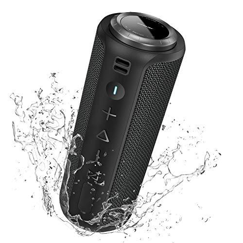 Enceinte Bluetooth Portable Surround Stéréo: SONGLOW 40W Enceinte Basses Puissantes, Étanche IPX7, 12 Heures De Lecture, Bluetooth 5.0 avec Technologie PartySync (Sync 200+ LS01)