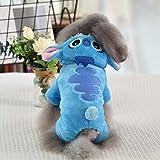 WANGSHI Ropa Abrigada De Invierno para Perros Pequeños Azul N69-Stitch par de Cuatro Patas XXL (Aproximadamente 14-18 kg)