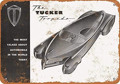 YASMINE HANCOCK 194 Tucker Torpedo Metall Plaque Zinn Logo Poster Wand Kunst Cafe Club Bar Wohnkultur