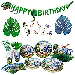 7. Decorlife Dinosaur Birthday Party Supplies Complete Pack (224 pcs)