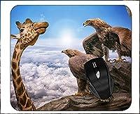 ゲーミングマウスパッドホライゾンクラウドロック写真ラテアートキリンイーグルマウスパッド