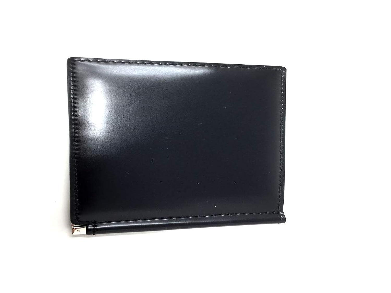 bell la bell(ベルラベル) コードバン レザーマネークリップウォレット [日本製] オールレザー メンズ二つ折り財布