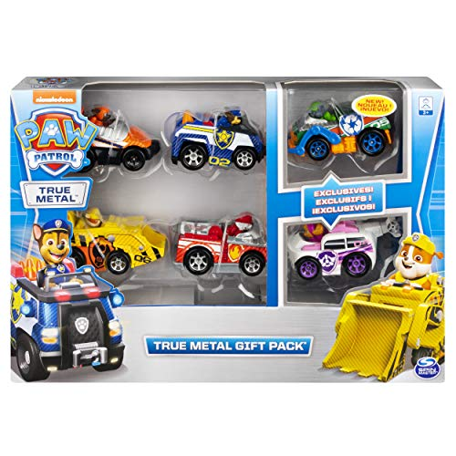 PAW PATROL Set Regalo | Patrulla Canina | True Metal 1:55 | 6 Mini Vehículos | Serie 2